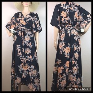 Cupshe Floral Wrap Kimono Cover Up Bad Moon Dress